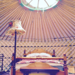 Internal view of the yurt