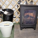 A Stove is Set Up For The Yurt
