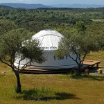 A 6m Yurt With Pyrenees Mountain in Distance