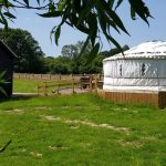 external view of the yurt